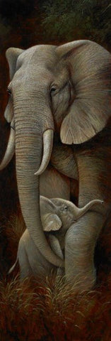 Special Order - Wild Mothers Elephant - Full Drill Diamond Painting - Specially ordered for you. Delivery is approximately 4 - 6 weeks.
