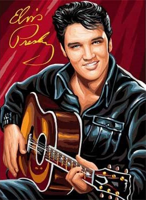 Elvis With Guitar- Full Drill Diamond Painting - Specially ordered for you. Delivery is approximately 4 - 6 weeks.