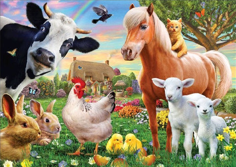 Farm Yard Animals - Full Drill Diamond Painting - Specially ordered for you. Delivery is approximately 4 - 6 weeks.