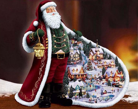Father Christmas- Full Drill Diamond Painting - Specially ordered for you. Delivery is approximately 4 - 6 weeks.