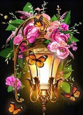 Special Order - Flowers and Butterflies 07- Full Drill diamond painting - Specially ordered for you. Delivery is approximately 4 - 6 weeks.