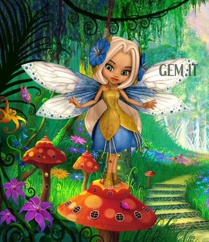 Petal Fairy Chloe.  Full Drill Diamond Painting - Specially ordered for you. Delivery is approximately 4 - 6 weeks.
