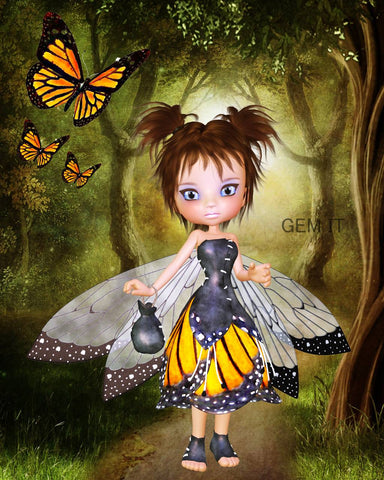 Petal Fairy Emily. Full Drill Diamond Painting - Specially ordered for you. Delivery is approximately 4 - 6 weeks.