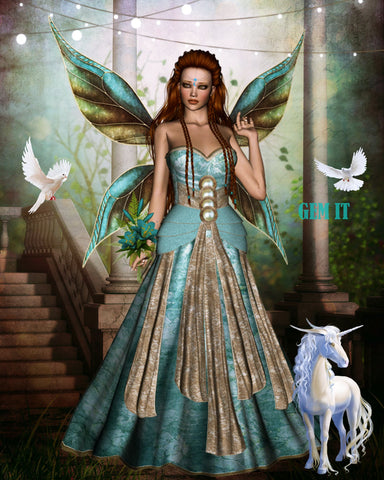 Unicorn Fairy Glenda.  Full Drill Diamond Painting - Specially ordered for you. Delivery is approximately 4 - 6 weeks.