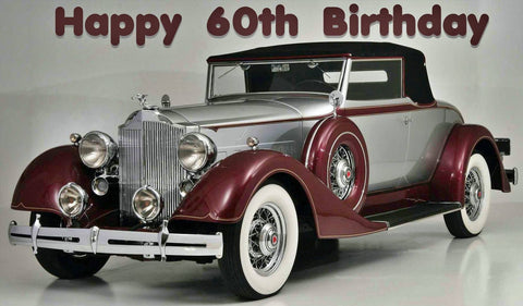 Happy 60th Vintage Car. Full Drill Diamond Painting - Specially ordered for you. Delivery is approximately 4 - 6 weeks.