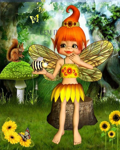 Fairy Marlie. Full Drill Diamond Painting - Specially ordered for you. Delivery is approximately 4 - 6 weeks.