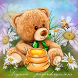 Honey Bear. Full Drill Diamond Painting - Specially ordered for you. Delivery is approximately 4 - 6 weeks.