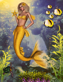 Mermaid Ginny.  Full Drill Diamond Painting - Specially ordered for you. Delivery is approximately 4 - 6 weeks.