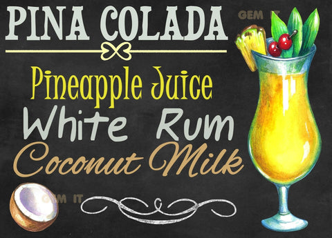 Cocktail Chalkboard Sign.  Full Drill Diamond Painting - Specially ordered for you. Delivery is approximately 4 - 6 weeks.