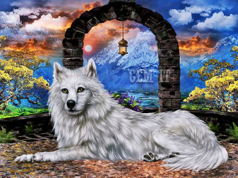 Wolf. Full Drill Diamond Painting - Specially ordered for you. Delivery is approximately 4 - 6 weeks.