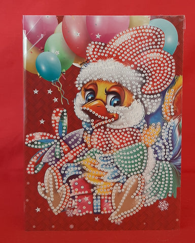 DIY Diamond Painting Christmas Card Kit - Chick 2 (HK46) PRICE INCLUDES SHIPPING