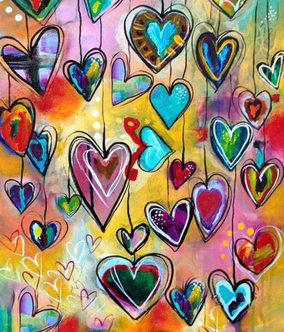 Hanging Hearts- Full Drill Diamond Painting - Specially ordered for you. Delivery is approximately 4 - 6 weeks.
