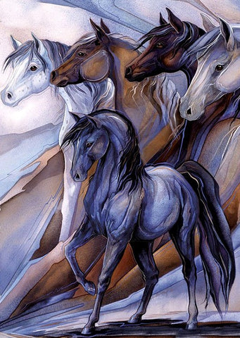 Special Order - Horses in Gray and Browns- Full Drill diamond painting - Specially ordered for you. Delivery is approximately 4 - 6 weeks.