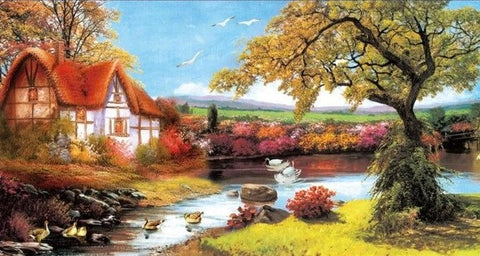 Special Order - Idylic Cottage Scene - Full Drill Diamond Painting - Specially ordered for you. Delivery is approximately 4 - 6 weeks.