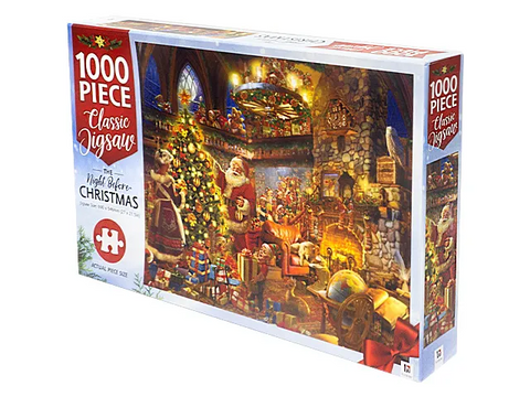 JIGSAW PUZZLE - Night Before Christmas - MINDBOG.1000 PCS