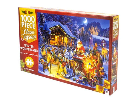 JIGSAW PUZZLE - Christmas Winter Wonderland - MINDBOG.1000 PCS