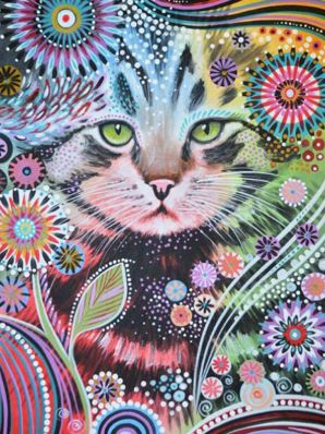 Kitten Doodle -  Full Drill Diamond Painting - Specially ordered for you. Delivery is approximately 4 - 6 weeks.