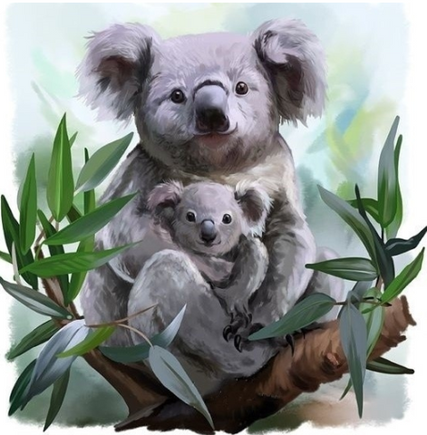 Special Order - Koalas 05 - Full Drill Diamond Painting - Specially ordered for you. Delivery is approximately 4 - 6 weeks.