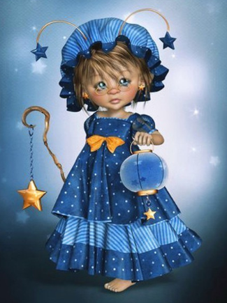 Little Girl in Blue - Full Drill Diamond Painting - Specially ordered for you. Delivery is approximately 4 - 6 weeks.