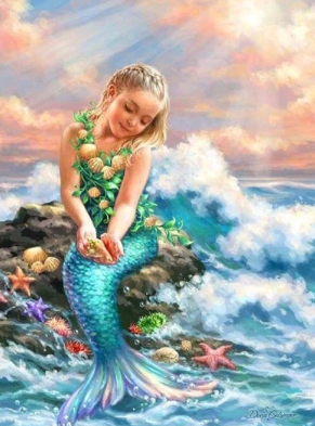 Mermaid Collection 05 - Full Drill Diamond Painting - Specially ordered for you. Delivery is approximately 4 - 6 weeks.