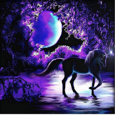Special Order - Midnight Unicorn - Full Drill Diamond Painting - Specially ordered for you. Delivery is approximately 4 - 6 weeks.