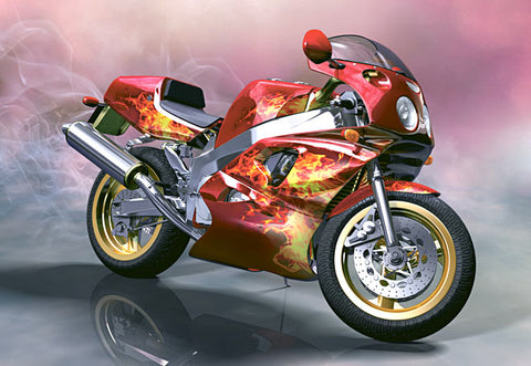 Motorcycle - Full Drill Diamond Painting - Specially ordered for you. Delivery is approximately 4 - 6 weeks.