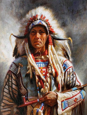 Native American 17 (2) - Full Drill Diamond Painting - Specially ordered for you. Delivery is approximately 4 - 6 weeks.
