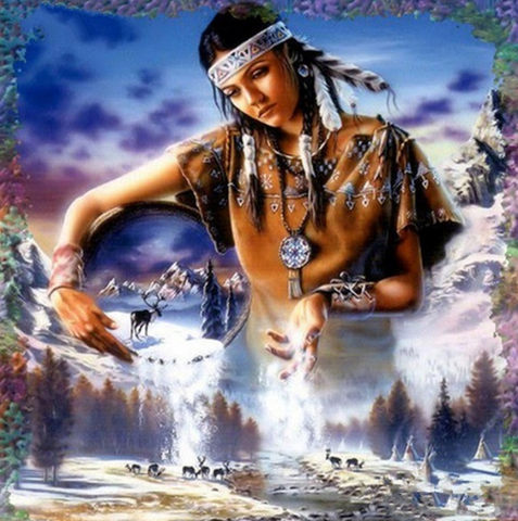 Special Order - Native American Girl - Full Drill Diamond Painting - Specially ordered for you. Delivery is approximately 4 - 6 weeks.