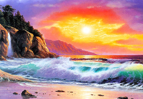 Special Order - Ocean Sunset - Full Drill diamond painting - Specially ordered for you. Delivery is approximately 4 - 6 weeks.