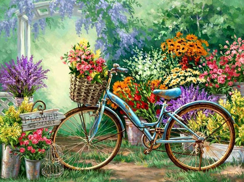 Old Bicycle- Full Drill Diamond Painting - Specially ordered for you. Delivery is approximately 4 - 6 weeks.