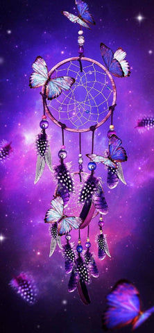 Pink and Purple Dream Catcher - 40 x 80cm - Full Drill (round) Diamond Painting Kit - Currently in stock