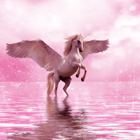 Pink Unicorn - Full Drill Diamond Painting - Specially ordered for you. Delivery is approximately 4 - 6 weeks.