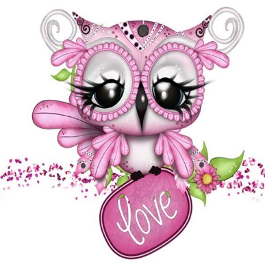 Special Order - Pink Owl 02 - Full Drill Diamond Painting - Specially ordered for you. Delivery is approximately 4 - 6 weeks.