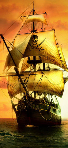 Pirate Ship 01- Full Drill Diamond Painting - Specially ordered for you. Delivery is approximately 4 - 6 weeks.