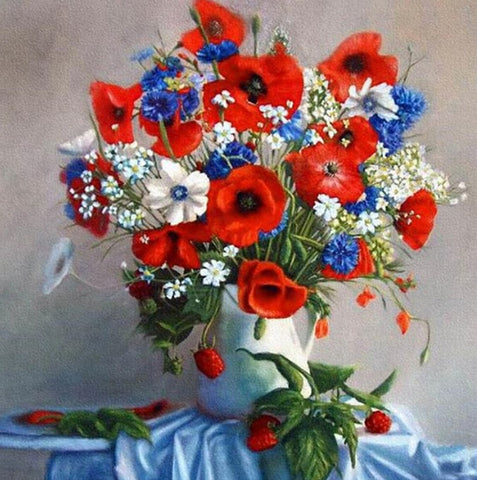 Special Order - Poppies 02 - Full Drill Diamond Painting - Specially ordered for you. Delivery is approximately 4 - 6 weeks.