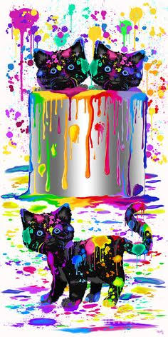 Rainbow Animals 15- Full Drill Diamond Painting - Specially ordered for you. Delivery is approximately 4 - 6 weeks.
