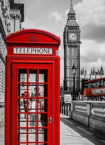 Special Order - Red Telephone Box - Full Drill diamond painting - Specially ordered for you. Delivery is approximately 4 - 6 weeks.