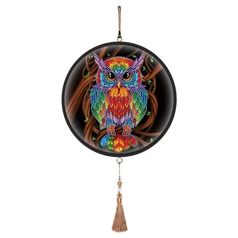 Wall Hanging Diamond Painting with Frame - Owl