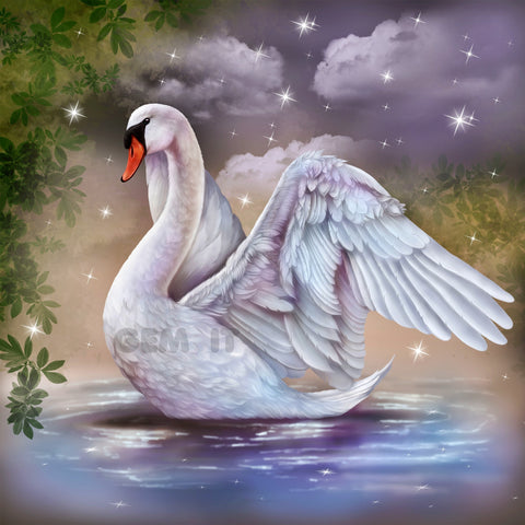 Swan - Full Drill Diamond Painting - Specially ordered for you. Delivery is approximately 4 - 6 weeks.