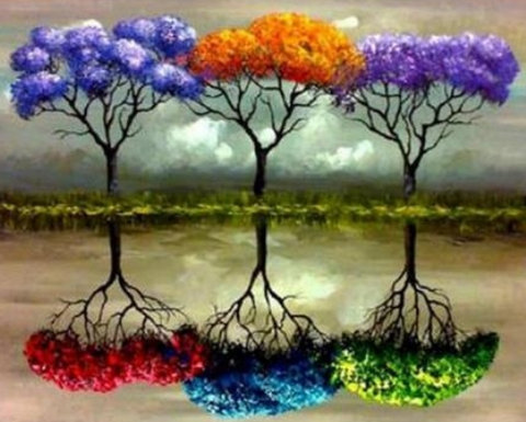 Special Order - Six Coloured Trees - Full Drill diamond painting - Specially ordered for you. Delivery is approximately 4 - 6 weeks.