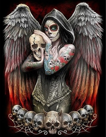Special Order - Skull Angel - Full Drill diamond painting - Specially ordered for you. Delivery is approximately 4 - 6 weeks.
