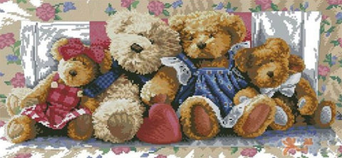 Special Order - Teddy Bear Family - Full Drill Diamond Painting - Specially ordered for you. Delivery is approximately 4 - 6 weeks.