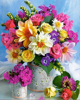 Vase of Pretty Flowers- Full Drill Diamond Painting - Specially ordered for you. Delivery is approximately 4 - 6 weeks.