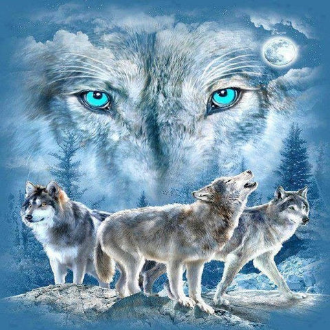 Special Order - Wolves - Full Drill Diamond Painting - Specially ordered for you. Delivery is approximately 4 - 6 weeks.