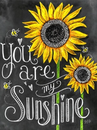 You are my Sunshine - 61 x 91.5cm (poster size) Full Drill (square) Diamond Painting Kit - Currently in stock