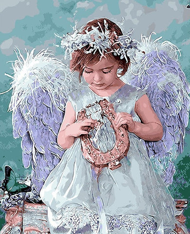 Angel  - Full Drill Diamond Painting - Specially ordered for you. Delivery is approximately 4 - 6 weeks.