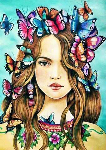 Special Order - Butterfly Girl- Full Drill diamond painting- Specially ordered for you. Delivery is approximately 4 - 6 weeks.