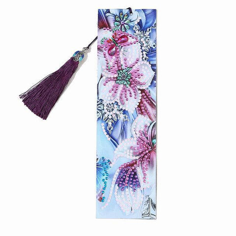 Diamond Painting Bookmark - Butterfly Flower