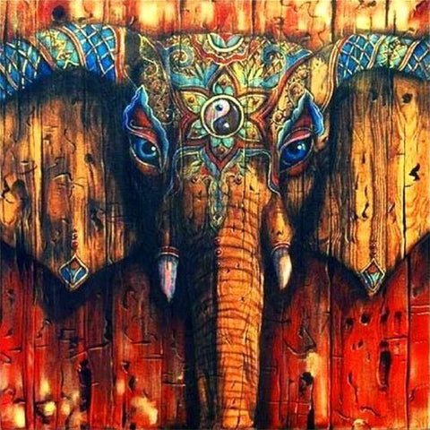 Special Order - Elephant Painted Wood - Full Drill Diamond Painting - Specially ordered for you. Delivery is approximately 4 - 6 weeks.