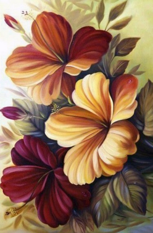 Flowers In Brown And Red- Full Drill Diamond Painting - Specially ordered for you. Delivery is approximately 4 - 6 weeks.